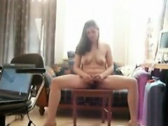 Hairy Girl Strips And...